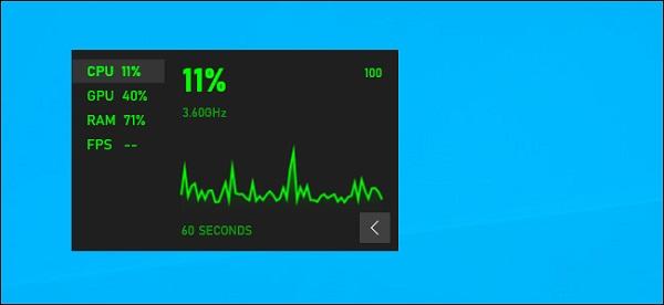 نمایش میزان استفاده از رم در ویندوز 10 با Game Bar