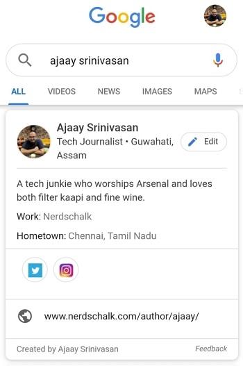 ثبت نام در People Card گوگل