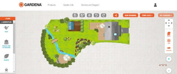 طراحی باغچه حیاط Gardena My Garden