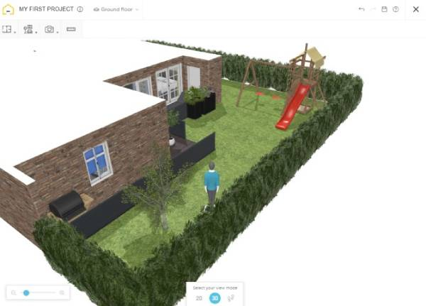 طراحی حیاط منزل ایرانی ساده با Home By Design Planner