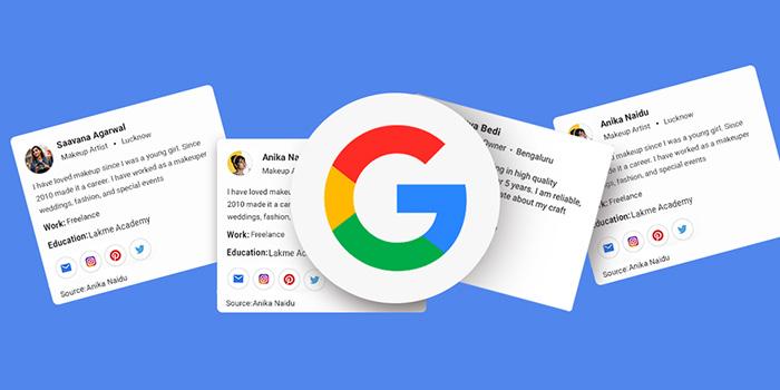 آموزش ثبت نام و رزومه خود در نتایج جستجو گوگل با People Card