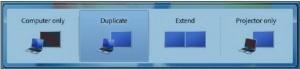 اتصال لپ تاپ به ویدئو پروژکتور در ویندوز 7