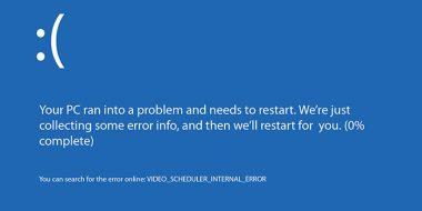 حل مشکل ارور Video Scheduler Internal Error ویندوز 10