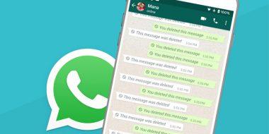 خواندن و بازیابی پیام های حذف شده واتساپ