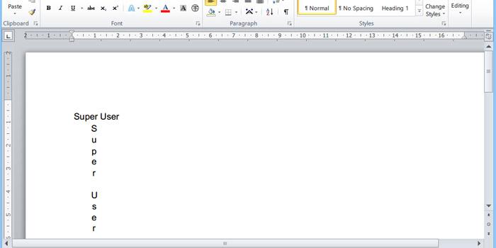 نوشتن متن به صورت عمودی و افقی در ورد