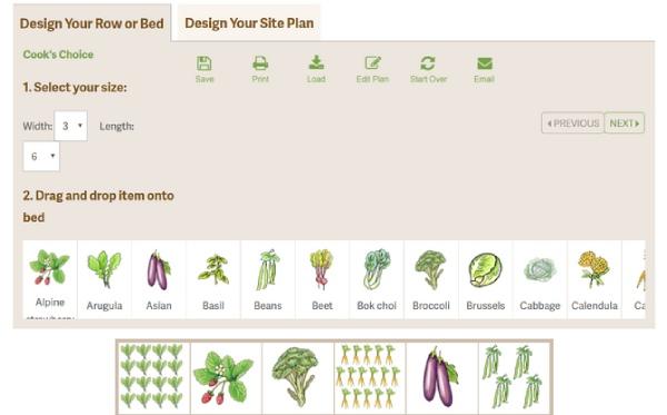 طراحی حیاط ویلا با Kitchen Garden planner
