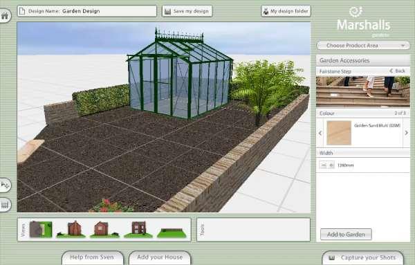 سایت طراحی Garden Visualiser