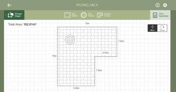 طراحی حیاط خلوت ایرانی با Marshalls Paving Planner