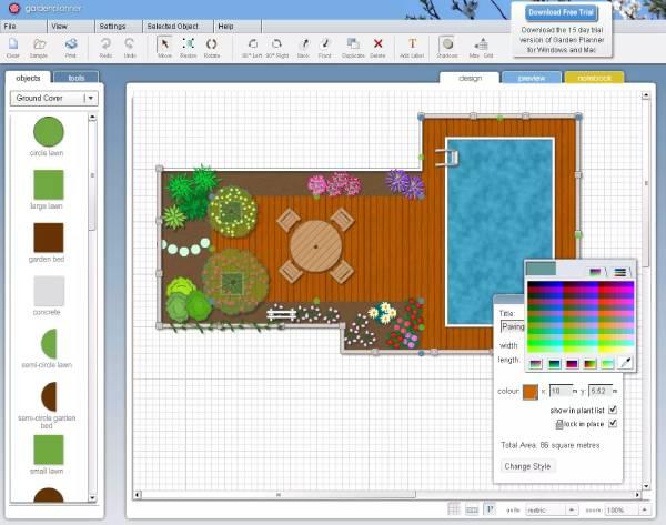 طراحی حیاط ویلا Garden Planner Online