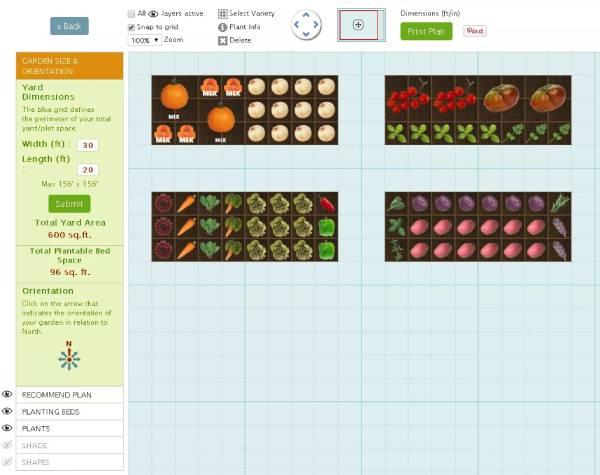 سایت طراحی Personalized Vegetable Garden Planner