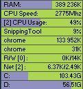 TinyResMeter گجت نمایش میزان مصرف قطعات کامپیوتر