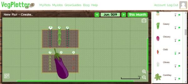 طراحی حیاط با VegPlotter
