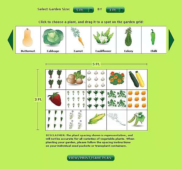 سایت طراحی Vegetable Planner