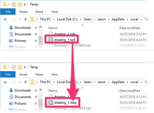 روش باز کردن فایل های ذخیره شده (مسیر سیو خودکار در اتوکد)