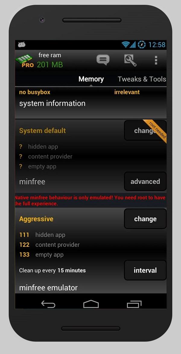 رفع مشکل کند شدن گوشی با استفاده از برنامه آزاد کننده حافظه