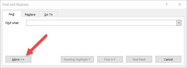 جستجوی کلمه در ورد