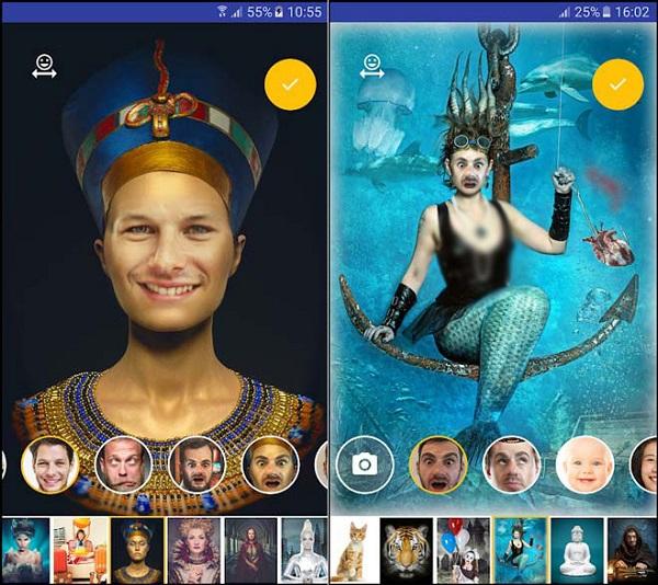 برنامه تغییر چهره اندروید Face Blender