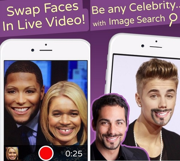 تغییر شکل صورت اندروید با Face Swap Live