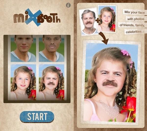 MixBooth نرم افزار تغییر اجزای صورت اندروید