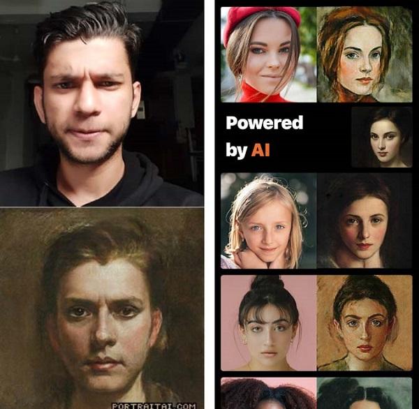 نرم افزار تغییر چهره برای اندروید Portrait AI