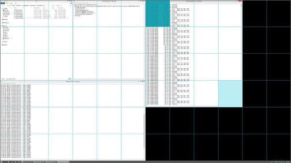 نصف شدن صفحه دسکتاپ WindowsGrid