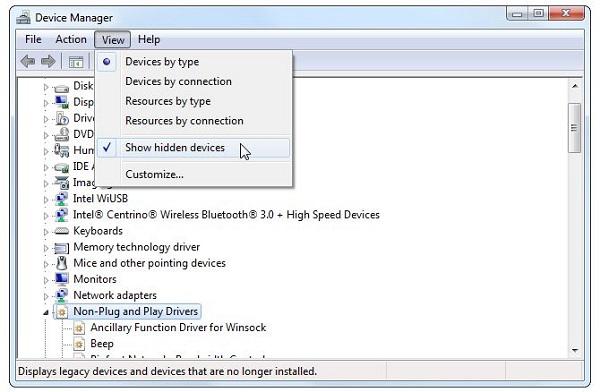 کدام سخت افزارها به صورت عمومی به وسیله ویندوز نصب شده اند؟