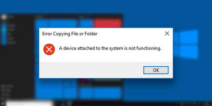 آموزش 7 روش رفع ارور A device attached to the system is not functioning