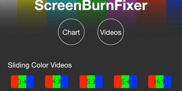 حل مشکل پیکسل سوختگی با استفاده از وبسایت ScreenBurnFixer