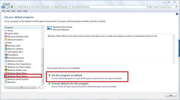 حل مشکل windows photo viewer در ویندوز 7