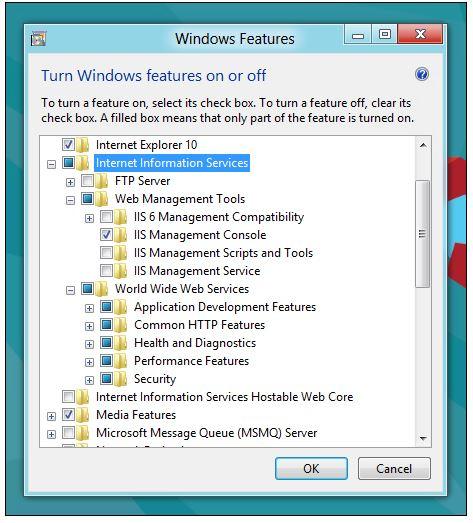 نصب IIS در ویندوز 7، 8 و 10
