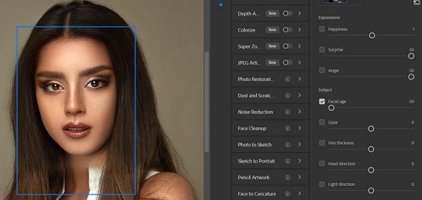 تغییر اجزای صورت در فتوشاپ