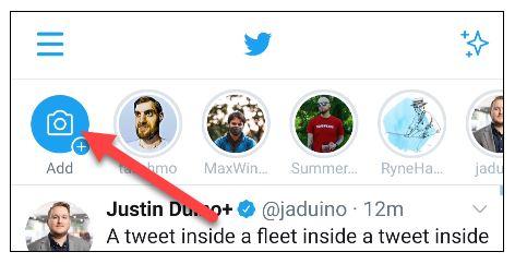 نحوه گذاشتن استوری در توییتر
