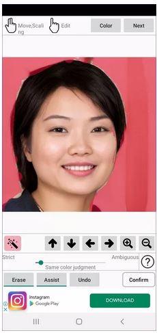 دانلود رایگان نرم افزار تغییر پس زمینه عکس ID Photo Background Editor