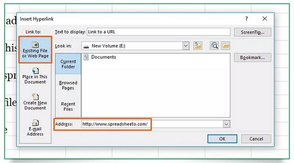 نحوه هایپرلینک در اکسل – لینک به آدرس اینترنتی