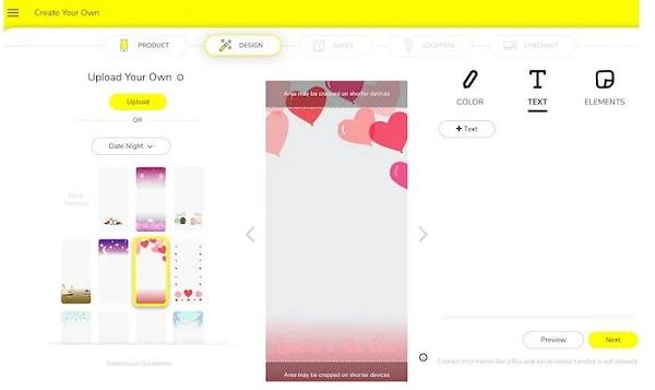 ساخت فیلتر Snapchat پولی