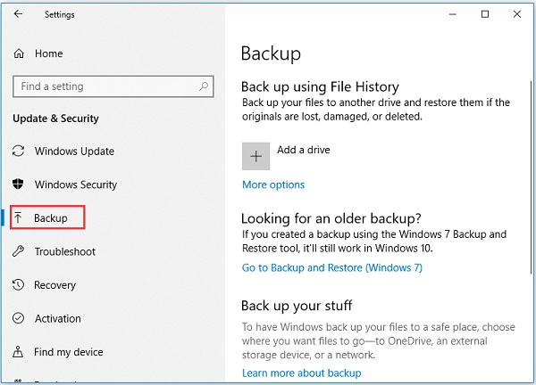 استفاده از File History ویندوز