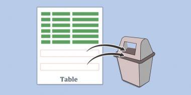 آموزش کامل حذف سطر، ستون ، سلول یا کل جدول ورد