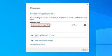 آموزش 12 روش رفع مشکل Audio Services Not Responding ویندوز 10 ، 8.1 و 7