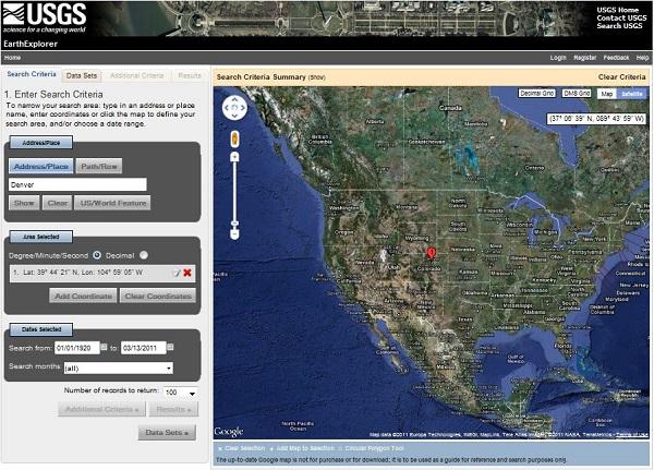 خرید نقشه هوایی با USGS Earth Explorer