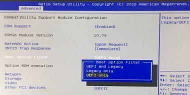 آموزش 5 روش تغییر تبدیل بایوس Legacy به UEFI