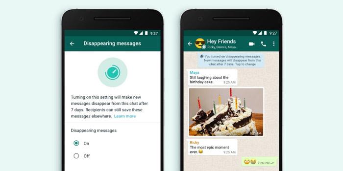 آموزش روش ارسال عکس، فیلم و پیام حذف شونده در واتساپ