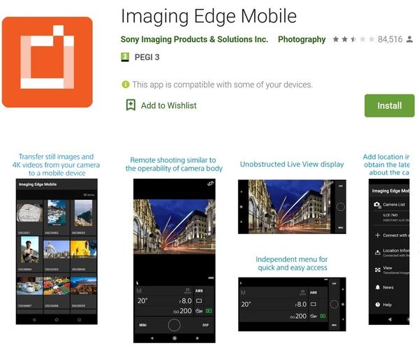 طریقه وصل شدن وای فای دوربین به گوشی، وصل کردن دوربین به گوشی با برنامه Imaging Edge Mobile