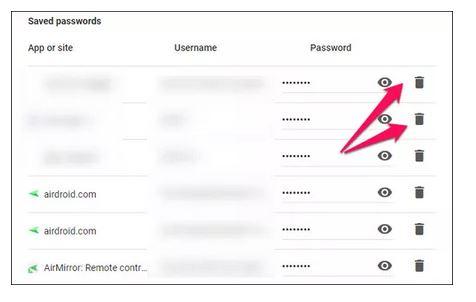 حذف رمزهای ذخیره شده بعد از غیرفعال کردن گوگل اسمارت لوک