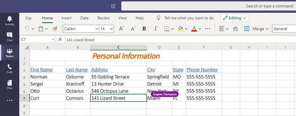 آموزش کار با Microsoft Teams، اشتراک گذاری فایل