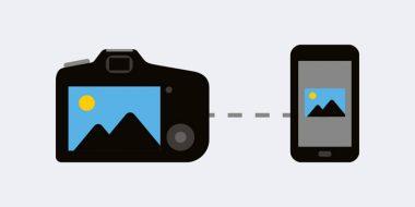 آموزش تصویری اتصال دوربین عکاسی به گوشی با وای فای و..