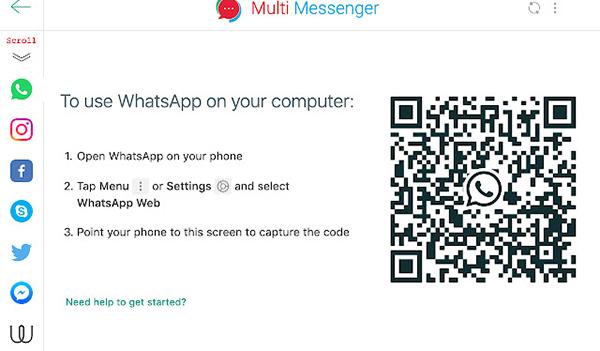 واتساپ برای گوگل کروم