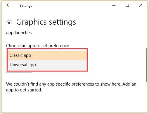 تغییر گرافیک پیش فرض در ویندوز 10 با استفاده از تنظیمات