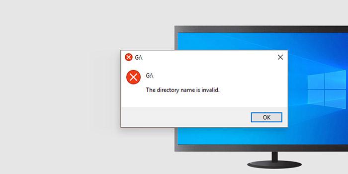 آموزش 18 روش حل مشکل ارور The Directory Name Is Invalid ویندوز