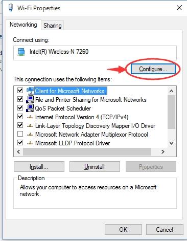 رفع مشکل در اتصال به اینترنت ویندوز 10 با تغییر network mode وایرلس