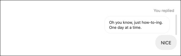 روش استفاده از ریپلی پیام در دایرکت اینستا در وب